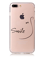 Para iPhone X iPhone 8 Case Tampa Estampada Capa Traseira Capinha Palavra / Frase Macia PUT para Apple iPhone X iPhone 8 Plus iPhone 8