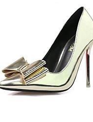 Damen-High Heels-Kleid-PU-StöckelabsatzGold Silber
