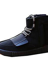 Da donna-Sneakers-Tempo libero Ufficio e lavoro Casual-pattini delle coppie-Piatto-Scamosciato-Nero