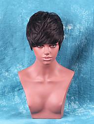 Fluffy Short Hair Hot High-quality Human Hair Wig
