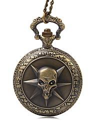 Masculino Relógio de Bolso Quartzo Tecido Banda Vintage Bronze Rose Bronze