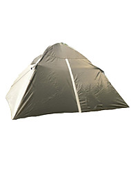 2 человека Световой тент Двойная Семейные палатки Однокомнатная Палатка Полиэстер Водонепроницаемый Ветронепроницаемый-Пешеходный туризм