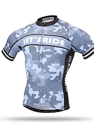 XINTOWN® Grey Men's Cycling Jersey Short Sleeve Bike Cycle Bicycle Shirt Jersey Let's Ride