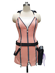 Inspired by Kingdom Hearts Kairi Anime Cosplay Costumes Pink Sleeveless Dress with Belt Bag