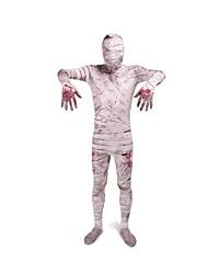 Disfraces de Cosplay Zombi Cosplay de películas  Rojo Gris Estampado Leotardo/Pijama Mono Zentai Traje de GatoHalloween Navidad Carnaval