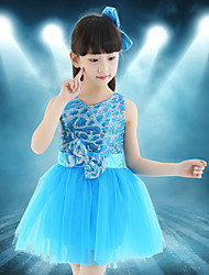 Shall We Ballet Dance Dress Children Splicing 1 Piece Latin Dance Dress