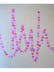 raylinedo® 1 шт 4 метра розовый и фиолетовый бумаги гирлянду для свадьбы летию со дня рождения партии Новогоднее украшение форме сердца 5