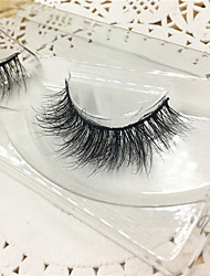 Eyelashes 3D mink Full Strip Lashes Eyes Thick Lifted lashes  Handmade Animal wool eyelash Black Band  M06