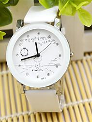 Mulheres Relógio de Moda Quartzo Couro Banda Pendente Preta Branco Vermelho Rosa
