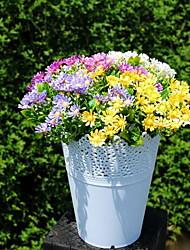 1 Ast Kunststoff Gänseblümchen Tisch-Blumen Künstliche Blumen 23*23*25
