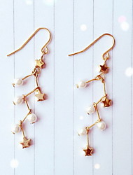 Drop Earrings Earrings Set Pearl Imitation Pearl Alloy Star Gold Jewelry Daily Casual 1 pair