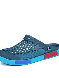 New Sandals Moccasin Comfort Hole Shoes Light Soles Microfibre Outdoor Athletic Casual Flat Heel Hollow-outBlue Green Navy