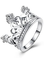 Ringe Party Alltag Normal Schmuck Zirkon Kupfer versilbert Ring 1 Stück,8 Silber