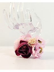 """Wedding Flowers Round Wrist Corsages Wedding Party/ Evening Dried Flower Metal 8.27""""(Approx.21cm)"""
