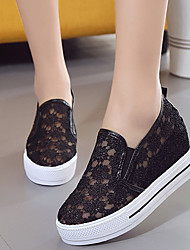 Flats Summer Comfort Fabric Casual Flat Heel Satin Flower Black White