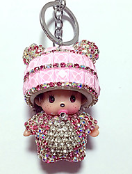 Dolls Key Chain Toys Leisure Hobby Pink Crystal