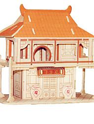 Пазлы Деревянные пазлы Строительные блоки Игрушки своими руками Знаменитое здание Китайская архитектура Лошадь 1 Дерево ЖелтыйМодели и