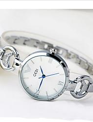 Mulheres Relógio de Moda Quartzo Impermeável Lega Banda Legal Casual Luxuoso Ouro Rose