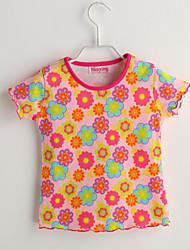 Tee-shirts bébé Fleur Décontracté / Quotidien-Coton-Eté-Rose
