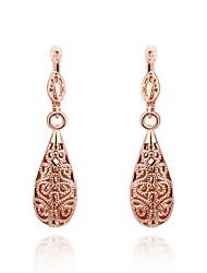 Tropfen-Ohrringe Schmuck Kupfer versilbert vergoldet Rose Gold überzogen Tropfen Gold Silber Rotgold Schmuck Alltag Normal 1 Stück