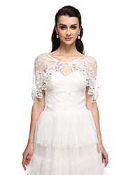 Women's Wrap Capelets Tulle Wedding Party/Evening Appliques Rhinestone