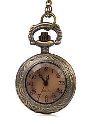 Mulheres Relógio de Bolso Quartzo imitação de diamante Lega Banda Vintage Bronze Bronze