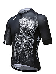 Cycling Jersey Men's Short Sleeve Bike Jersey Quick Dry Breathable Polyester Fashion Summer