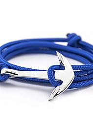 The Latest Fashion Solid Color Anchor Bracelet / 6 Colors