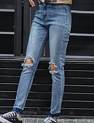assinar 2.017 novos coreano estiramento buraco gradiente calças lápis fino meia-calça