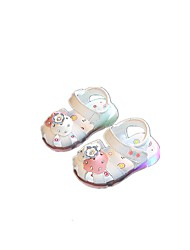 Baby Flats Summer First Walkers Leatherette Outdoor Casual Low Heel Magic Tape White Pink Walking