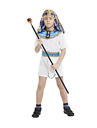Halloween Costumes Boy Ancient Egypt Egyptian Pharaoh Cleopatra Prince Costume for Children Kids Cosplay Clothing