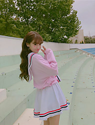 vento faculdade de mangas compridas uniformes rosa marinheiro da marinha camisa terno + uma saia palavra terno tiro real