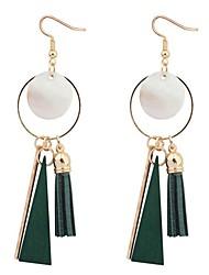 Серьги-слезки Серьги-кольца Медь Дерево Раковина каури Мода Черный Красный Зеленый Бижутерия Повседневные 1 пара