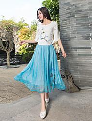 2017 весной и летом новый фамилия ветер плиссированные юбки окрашены два износа тройник платье ремень