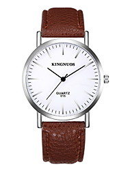 Men's Women's Dress Watch Water Resistant / Water Proof Quartz Leather Band Cool Casual Black Brown