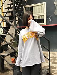 реальный выстрел! ! 2017 весной моделей с длинными рукавами свитер письма