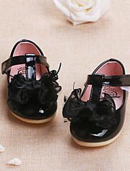 Baby-Flache Schuhe-Outddor Lässig-PU-Niedriger Absatz-Lauflern-Schwarz Rot Rosa