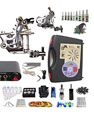 Complete Tattoo Kit G2A4A5 2 Machines Liner & Shader Mini Power Supply Ink Cups