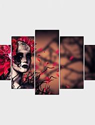 Отпечатки на холсте Люди Стиль Modern,5 панелей Холст Любая форма Печать Искусство Декор стены For Украшение дома