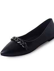Women's Flats Spring Comfort PU Outdoor Flat Heel Black