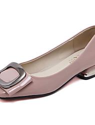 Flats Spring Comfort PU Dress Flat Heel Low Heel Bowknot