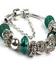 Chain Bracelet Crystal Alloy Natural Fashion Jewelry Green Light Blue Jewelry 1pc
