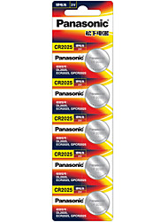 Panasonic CR2025 Button Cell Battery 3V 5 Pack
