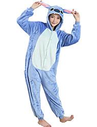 kigurumi Pyjamas Dessin-Animé Collant/Combinaison Fête / Célébration Pyjamas Animale Halloween Bleu MosaïqueCostumes de Cosplay Pour