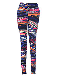 Women 's Casual Fashion Printed Knit Tight Pants Pencil Trousers Pants