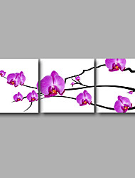 Stretched Canvas Print Three Panels Canvas Wall Decor Home Decoration Abstract Modern Puprle Pink