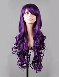 cosplay perruque Synthétique Sans bonnet Perruques Très long Violet Cheveux