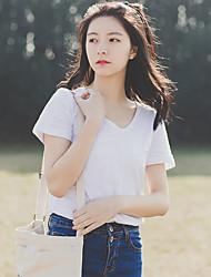 real shot! Stelle! 2017 koreanische Fan-Art Bambus Baumwolle Kurzarm-T-Shirt Frauen&# 39; s Blusen kleinen T-Shirt