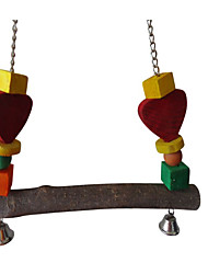 Bird Perches & Ladders Wood Multi-Color