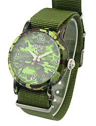 Women's Men's Fashion Watch Quartz Fabric Band Charm Green